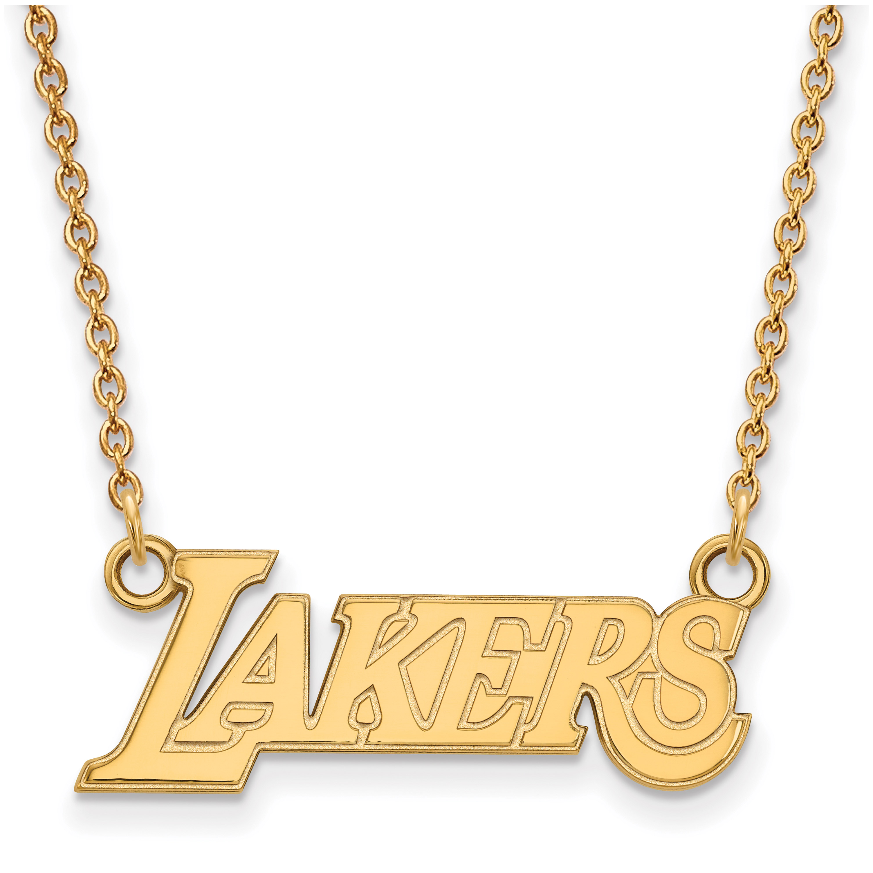 Los Angeles Lakers Women's Gold Plated Pendant Necklace - No Size