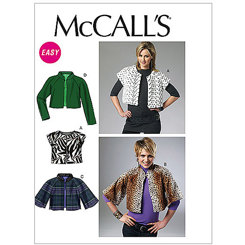 McCall's Pattern Misses' Lined Vest and Jackets, ZZ (L, XL, XXL)
