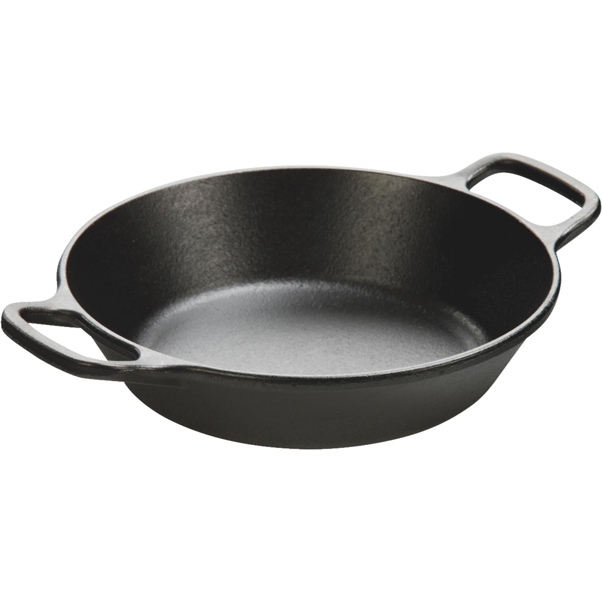 Lodge Logic 8 Inch Round Dual Handle Seasoned Cast Iron Pan, L5RPL3