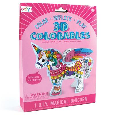 3D Colorables Inflatable Toy Coloring Kit