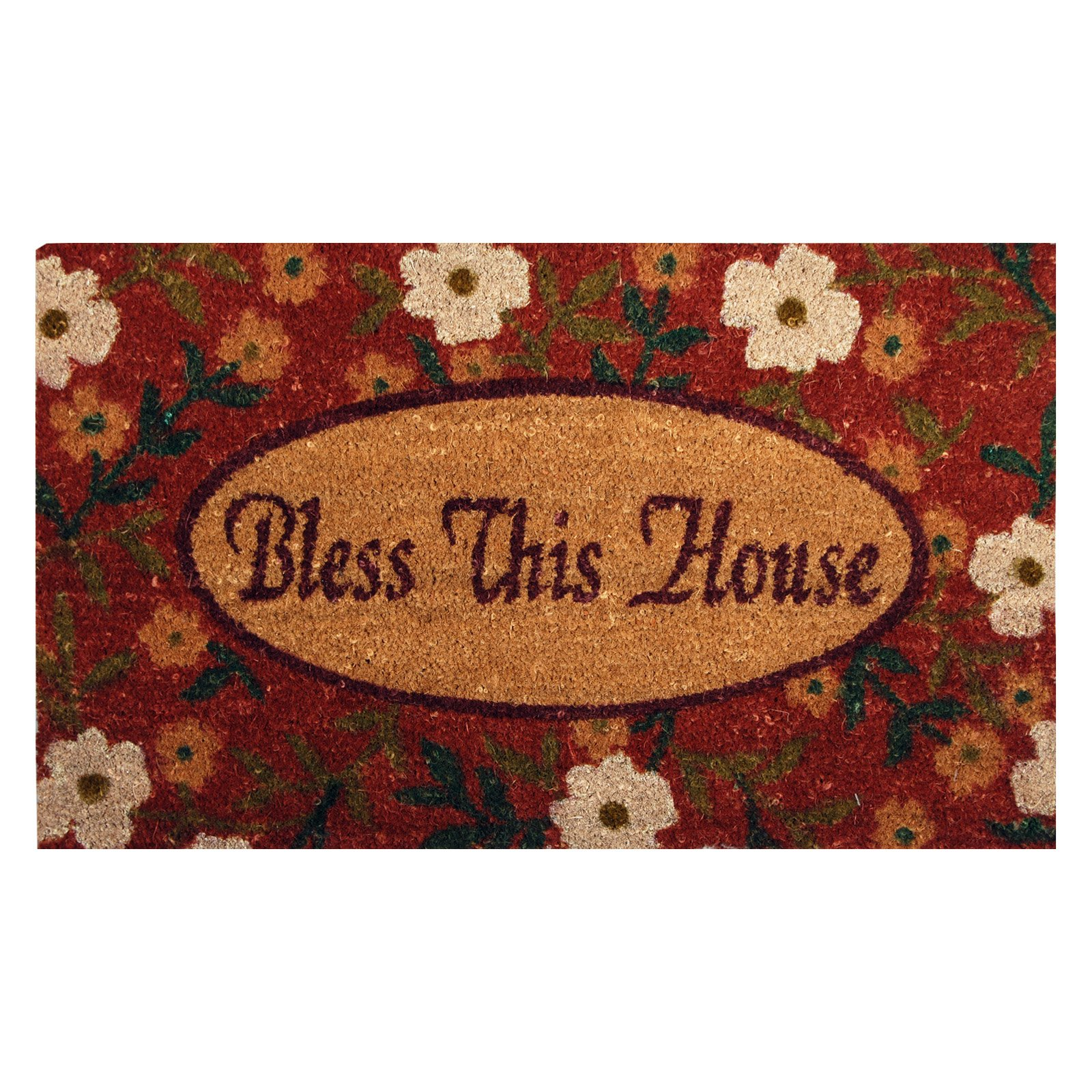 Bless this House Coir Mat with Vinyl Backing 18 x 30