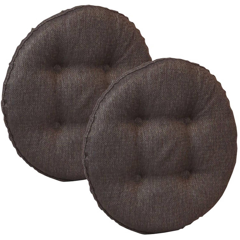 "Gripper Non-Slip 14"" x 14"" Omega Tufted Barstool Cushions, Set of 2"