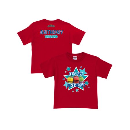Personalized Chuggington Its My Birthday! Toddler Boy Red T-Shirt](Its Boy)