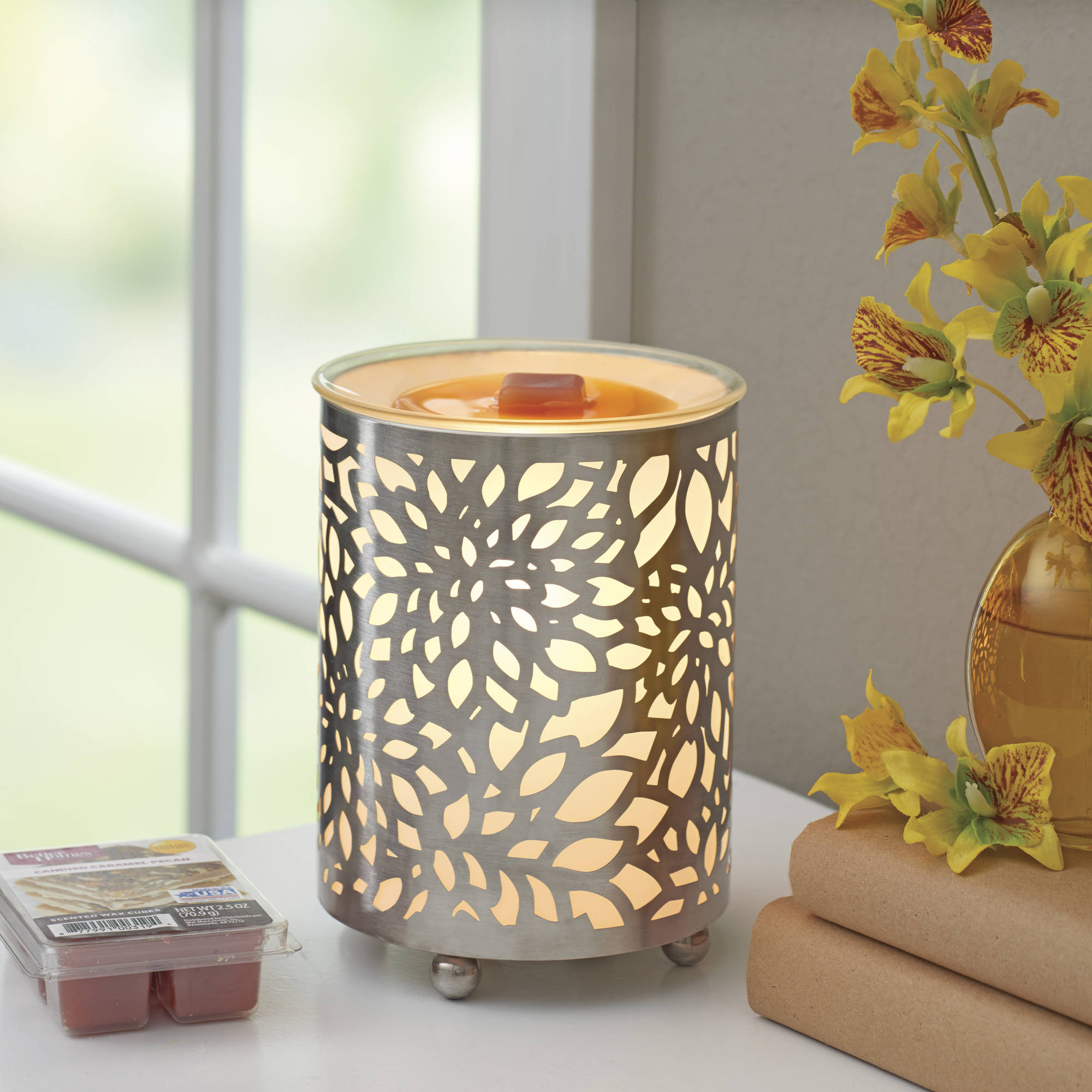 better homes and gardens wax warmer set, spring blooms - walmart