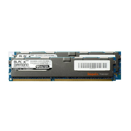 16GB 2X8GB Memory RAM for Intel Server System SR2612UR DDR3 RDIMM 240pin PC3-10600 1333MHz Black Diamond Memory Module