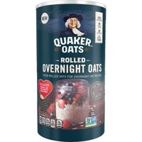 Quaker Rolled Overnight Oats, 19 oz Canister