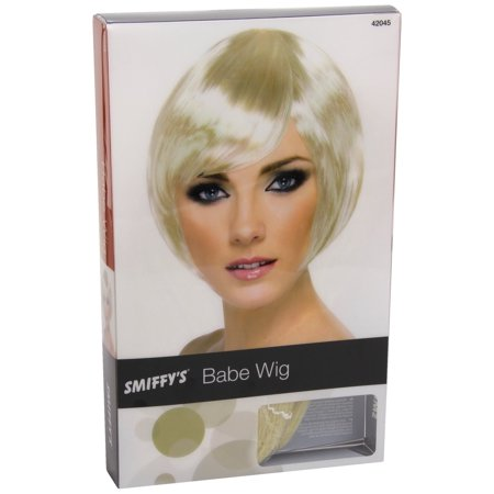 Womens Blonde Short Bob Wig With Fringe Costume - Cheap Short Blonde Wigs