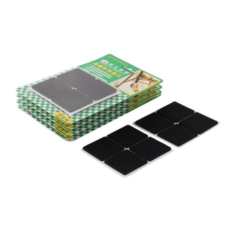 Table Chair Square Self Adhesive Furniture Felt Pads Cover Black 38 x 38mm 40pcs - image 1 of 1