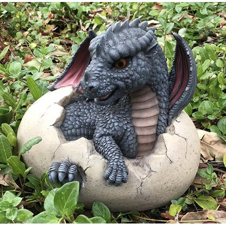 Ebros Large Nightfury Baby Dragon Hatchling In Egg Statue 10