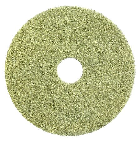 "Tough Guy 6RJL7 17"" Yellow Recycled Plastic Polyester Fiber w/Microscopic Recycled Polishing Pad"
