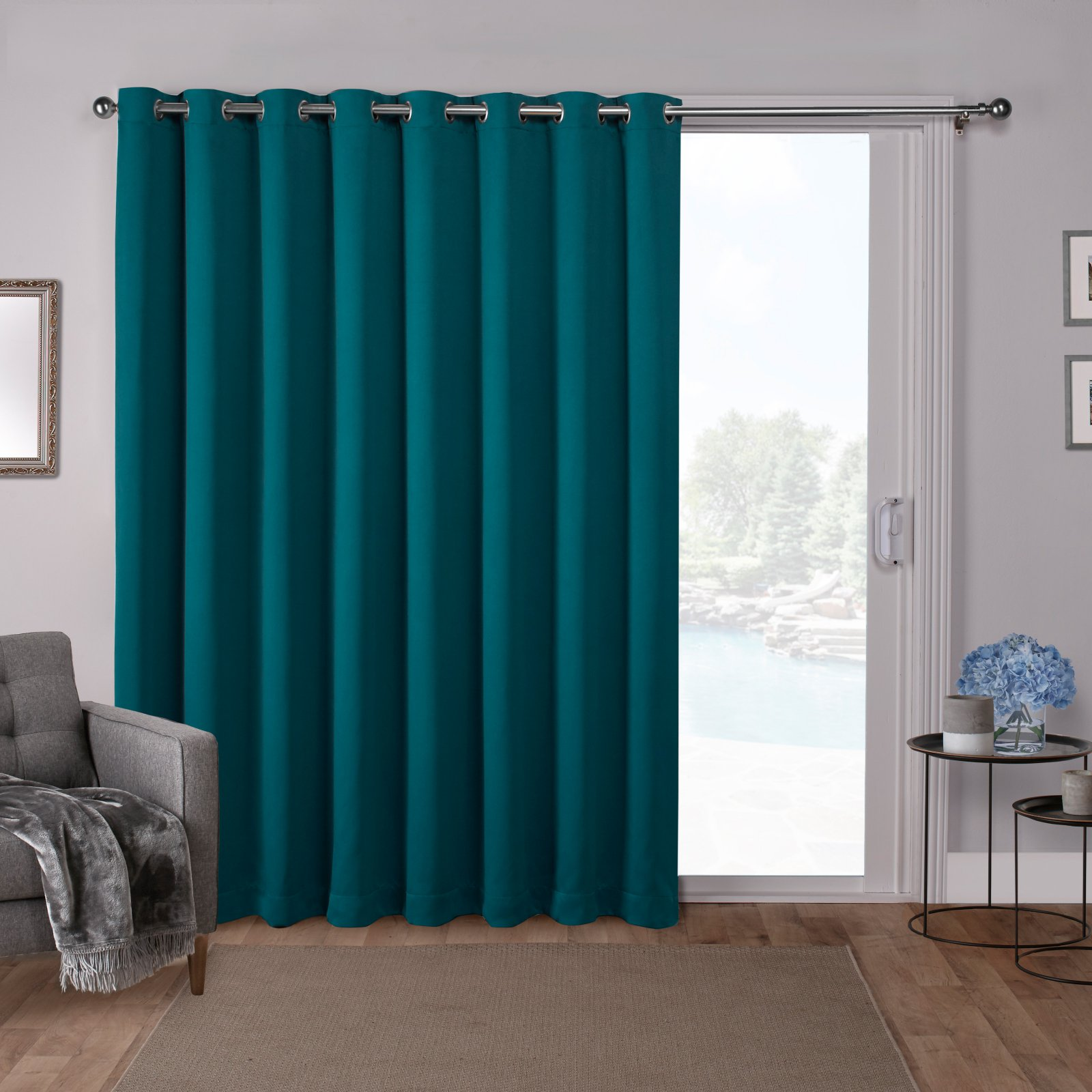 Exclusive Home Curtains 1 Pack Sa Blackout Wide Patio Grommet Top Single Curtain Panel