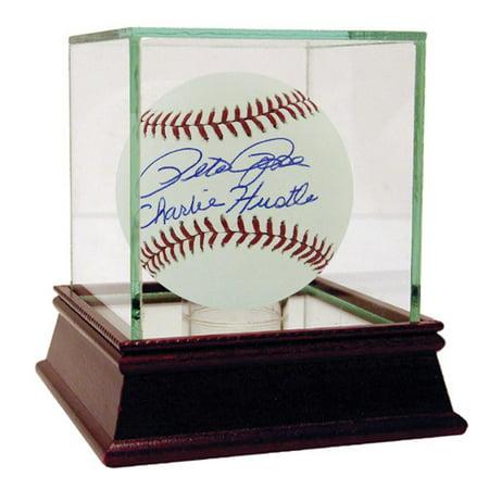 Pete Rose MLB Baseball with Charlie Hustle Inscription
