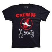 Grenade X Fly Society T-Shirt Black Mens