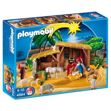 Christmas Nativity Manger with Stable Set Playmobil 4884](Manger Silhouette)