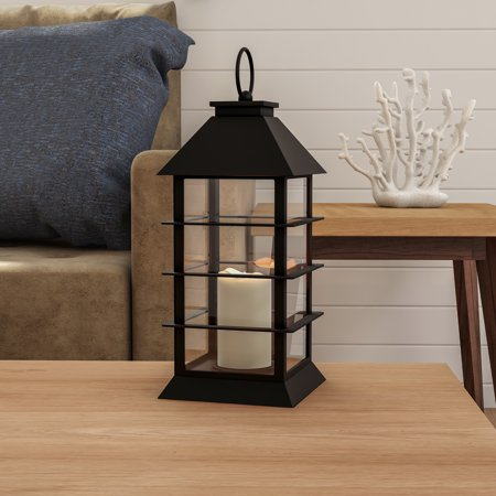Decorative Pillar Candles - Decorative Candle Lantern with Modern Grid Design-Color Changing Flameless LED Pillar Candle and Remote Control with Timer By Lavish Home