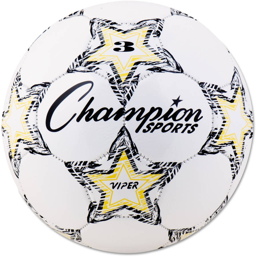 Champion Sports VIPER Soccer Ball, Size 3, White