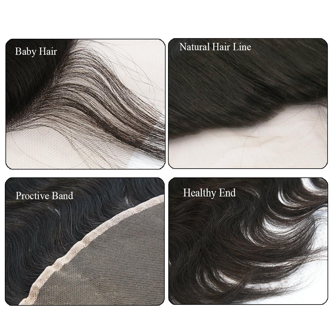 "12"" 13x4 Ear To Ear Lace Closure Free Part Brazilian Hair Extensions Body Wave - image 5 de 7"