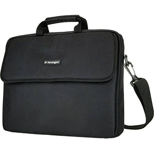 "Kensington 17"" Laptop Sleeve, Padded Interior with Pockets, Black"