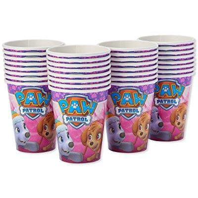 American Greetings Paw Patrol Pink Paper Party Cups, 32-Count