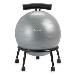 Gaiam Adjustable Custom-Fit Balance Ball Chair, Grey