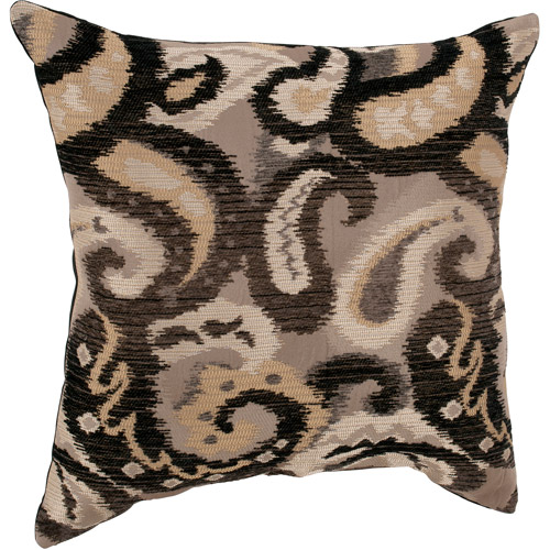 Better Homes and Gardens Chenille Paisley Decorative Pillow, Black/Gold