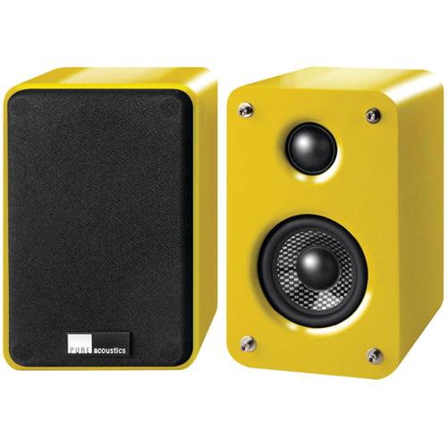 "Pure Acoustics DREAMBOX 3"" 2-Way Speakers, Yellow"