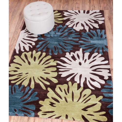 Well Woven Expressions Splash of Love Modern Area Rug, Terra EX28