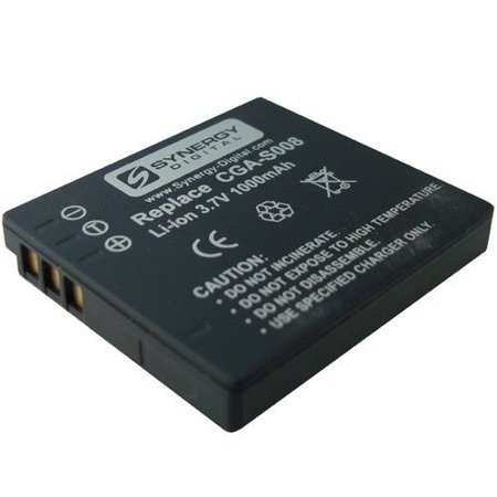 Panasonic SDR-S7 Camcorder Battery Lithium-Ion (1000mAh) - Replacement For Panasonic CGA-S008 and Leica BP-DC6 Batteries Cga Du14 Lithium Ion Battery
