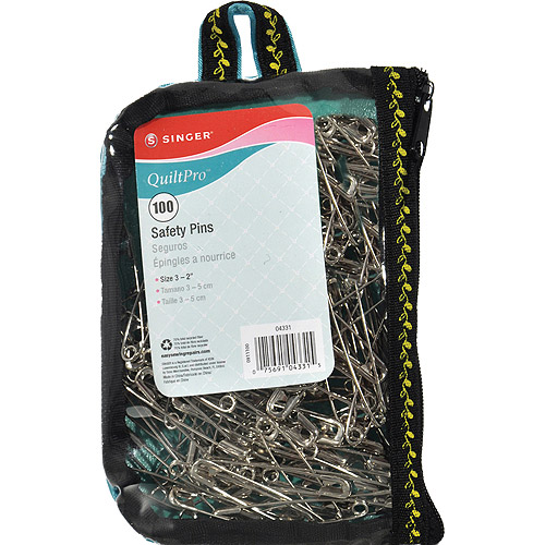 SINGER Quilting Safety Pins in Fashion Pouch Multi-Colored