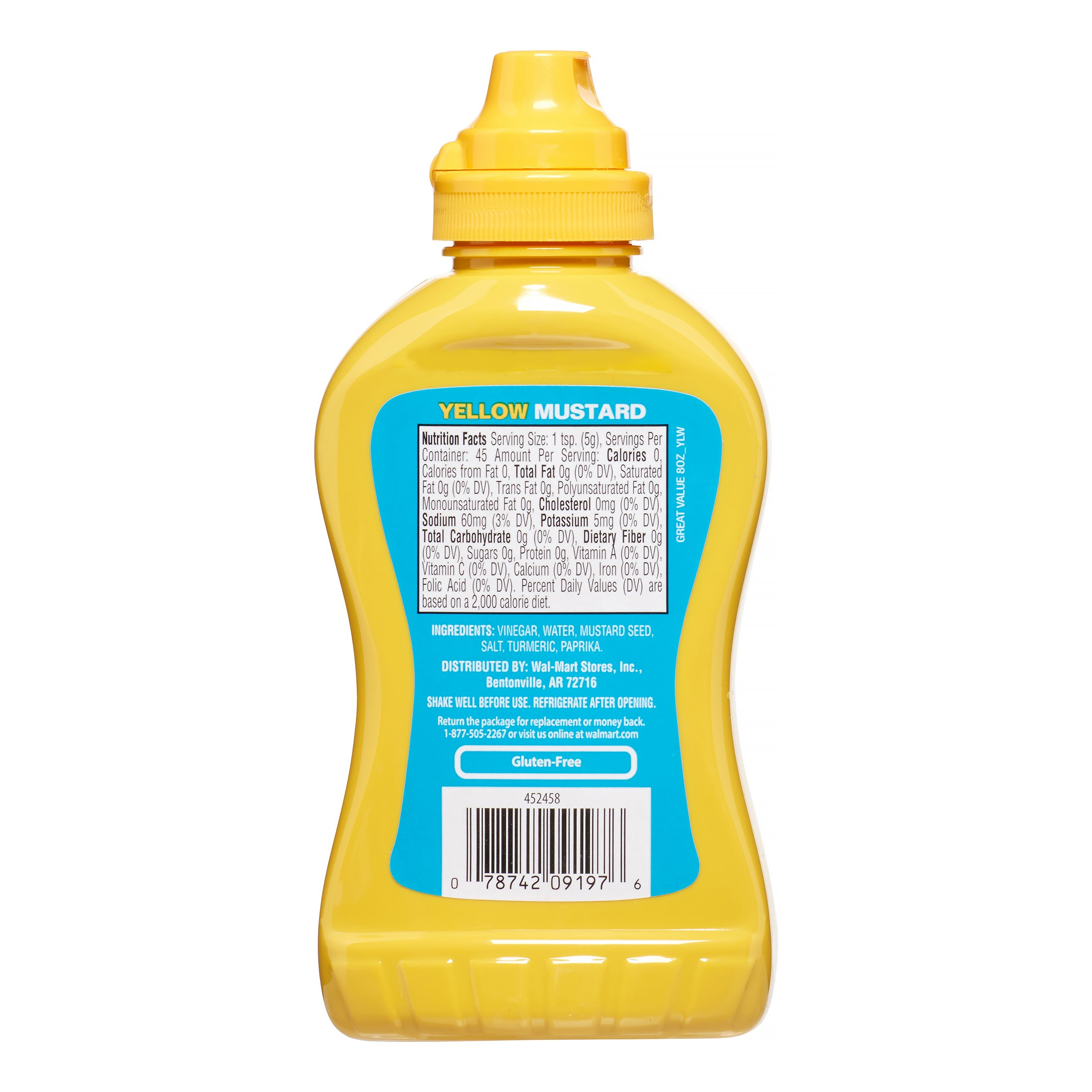 Great Value Yellow Mustard, 8 oz - Walmart.com