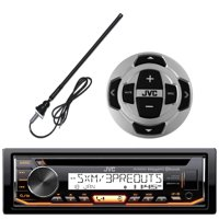 JVC KD-R99MBS In-Dash Marine Boat Yacht Bluetooth Radio USB Stereo Receiver CD Player Bundle Combo