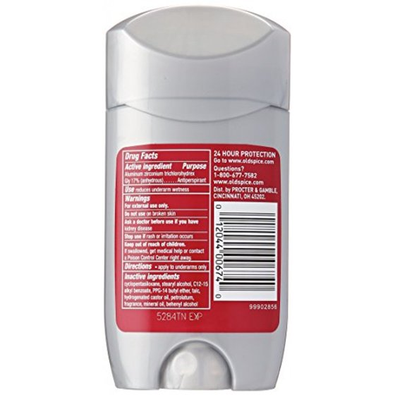 Old Spice Red Zone After Hours Invisible Solid Deodorant, 2 6 oz