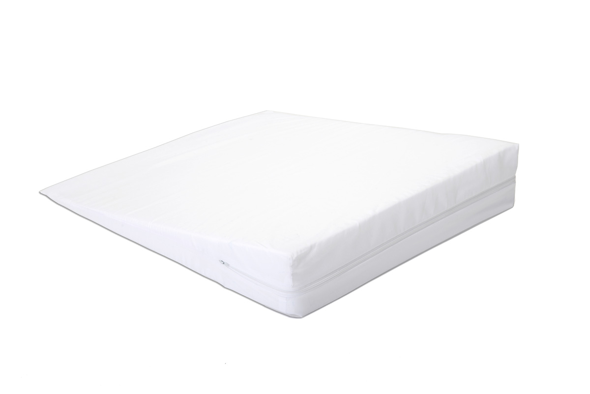 "Hermell Bed Wedge with White Zippered Cover (24"" x 24"" x 4"">1/2"")- FW4050"