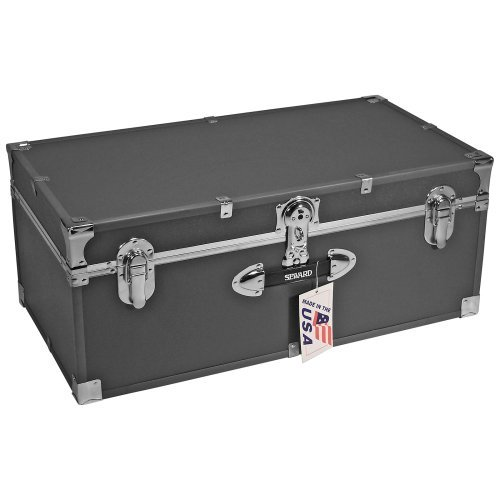 Locking Stackable Trunk-Silver Grey