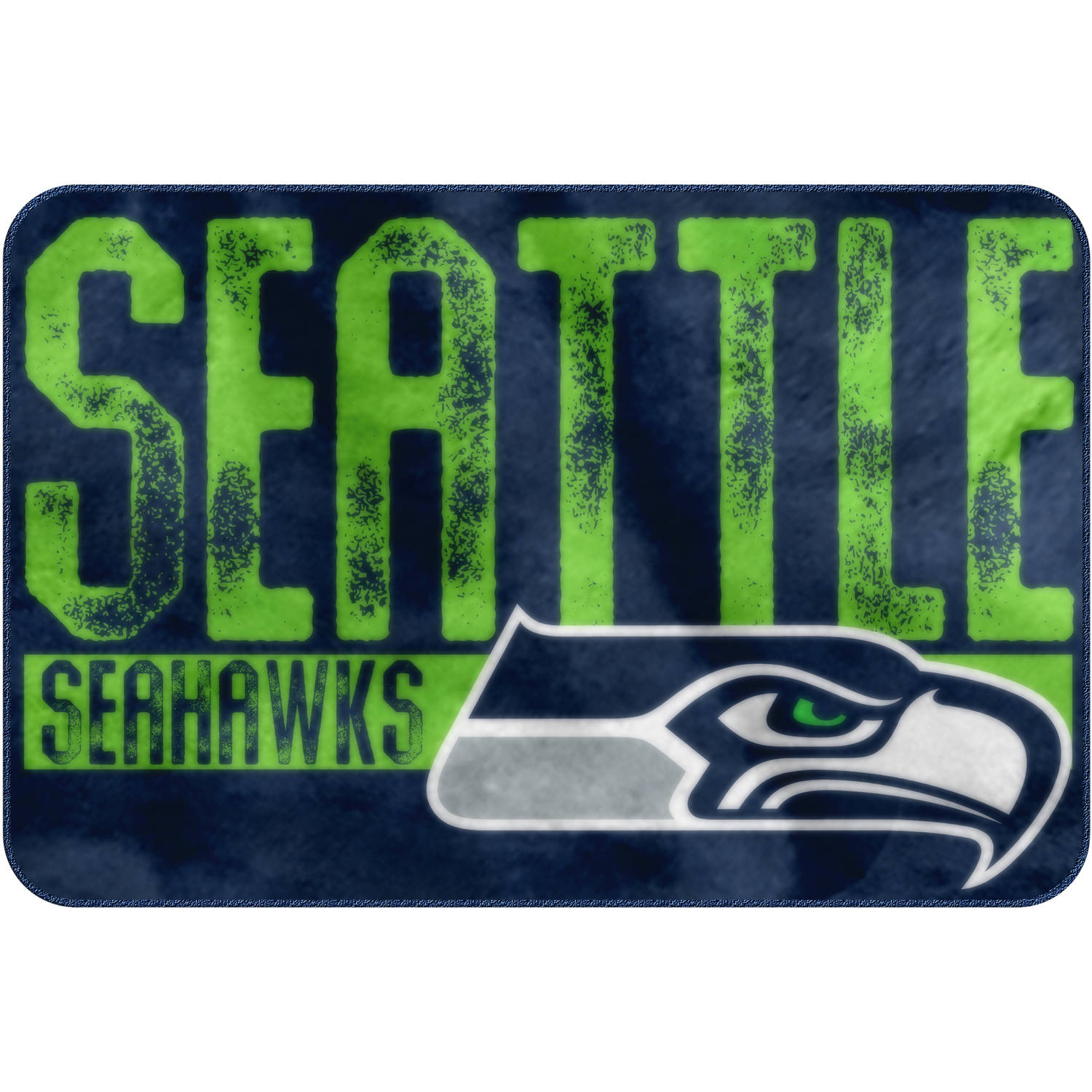 "NFL Seattle Seahawks ""Worn Out"" Mat, 20"" x 30"""