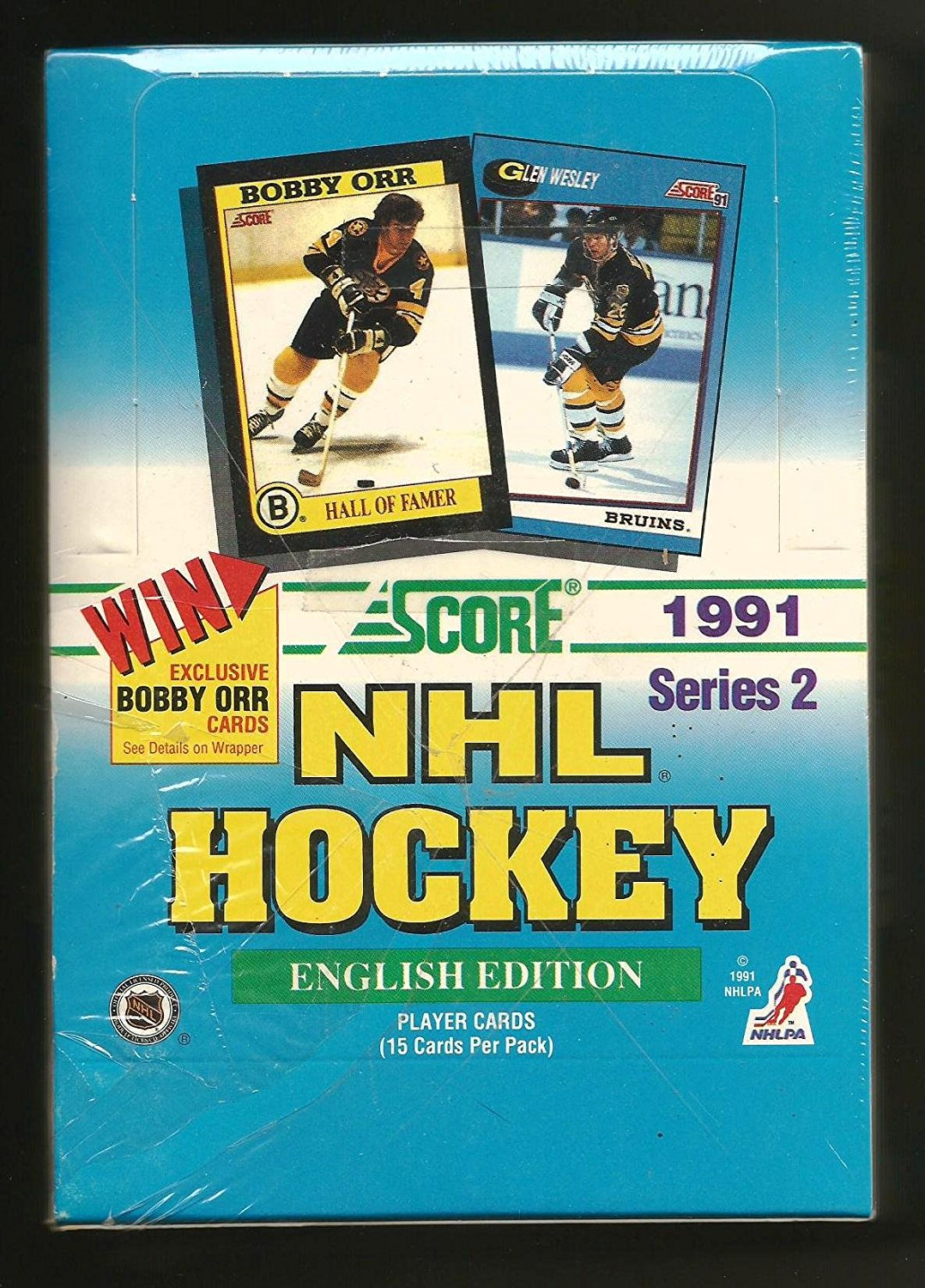 1991 92 Canadian English Series 2 Hockey Hobby Box, Brand New in original factory-sealed... by