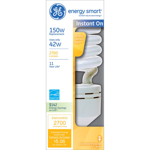 GE energy smart?? spiral?? CFL 42 watt spiral 1-pack