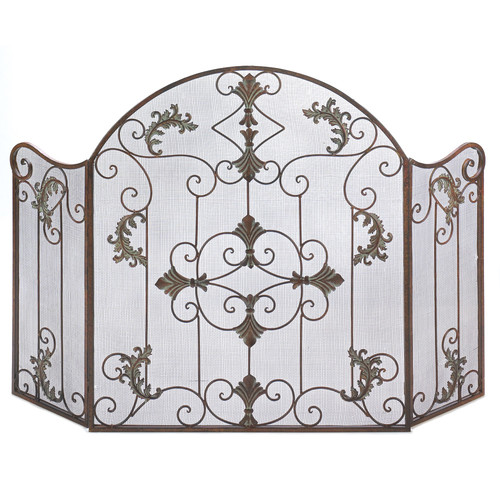 Zingz U0026 Thingz Embellished Wrought Iron Fireplace Screen