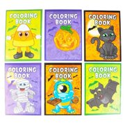 halloween coloring books (package of 12 - 5 x 7 books)