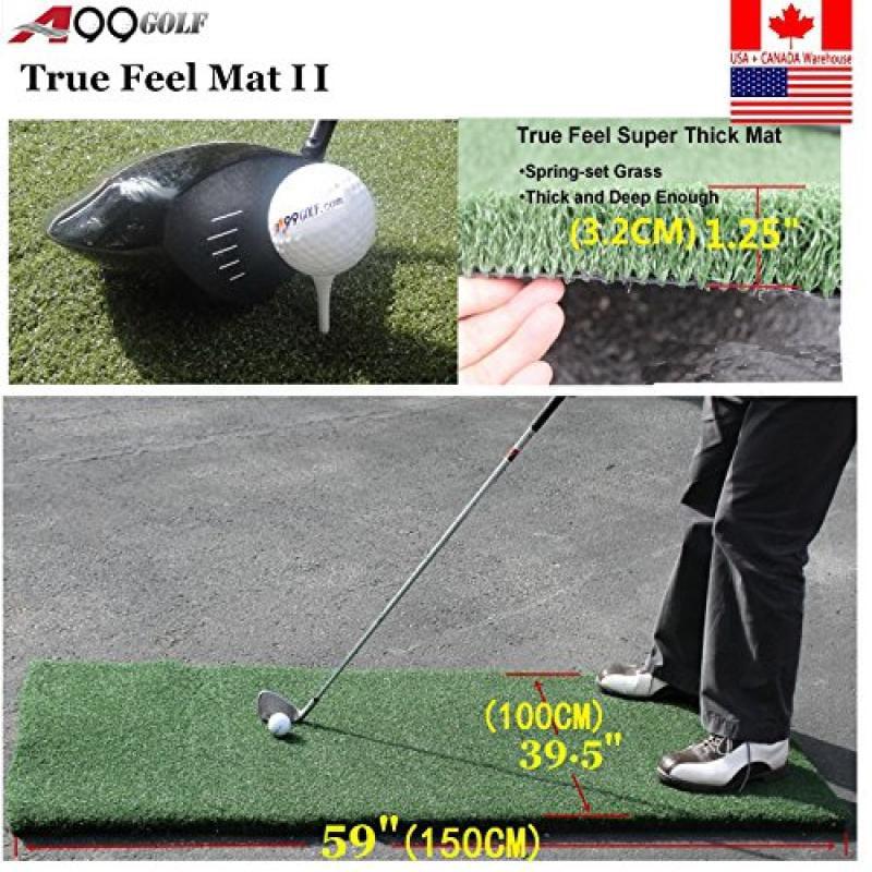 "Golf Range True Feel Super Thick mat Golf Chipping Driving Practice Mat 59 x 39 1 2 x1 1 4"" by"