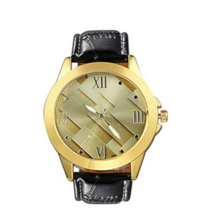 Mens Max Metrics Fashion Design Goldtone Silver Face Water Resistant Watch-337-G (Max G Sonnenbrille)
