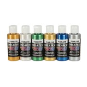 Createx Airbrush Color Set, Pearlescent Kit