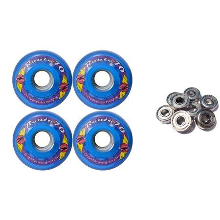 KRYPTONICS ROUTE 70MM 78A BLUE Longboard Skate Wheels + ABEC 9 - 78a Longboard Wheels