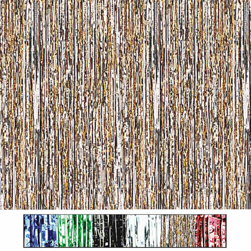 Metallic Party Curtains, Opal