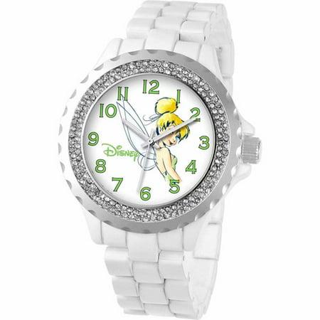 Tinker Bell Women's Enamel Watch, White Bracelet](Tinker Ball)