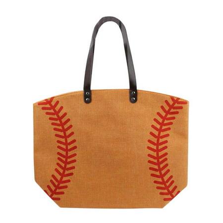 Baseball Game Day Beach Bag Tote