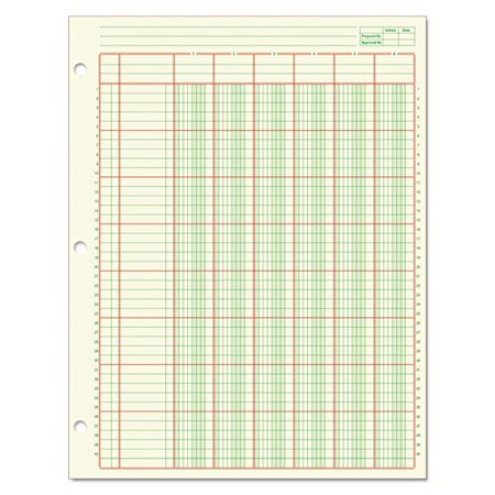 Adams® Columnar Analysis Pad, 6 Column, 8 1/2 X 11, Single Page Format, 50 Sheets/pad (Hplc Column)