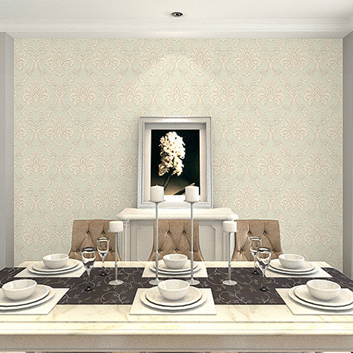 3D 10*0.53M Vintage Non-woven Paper Sticker Wallpaper Rolls Wall coverings Milky White Yellow Textured Wall Home Dining Room Office Decor
