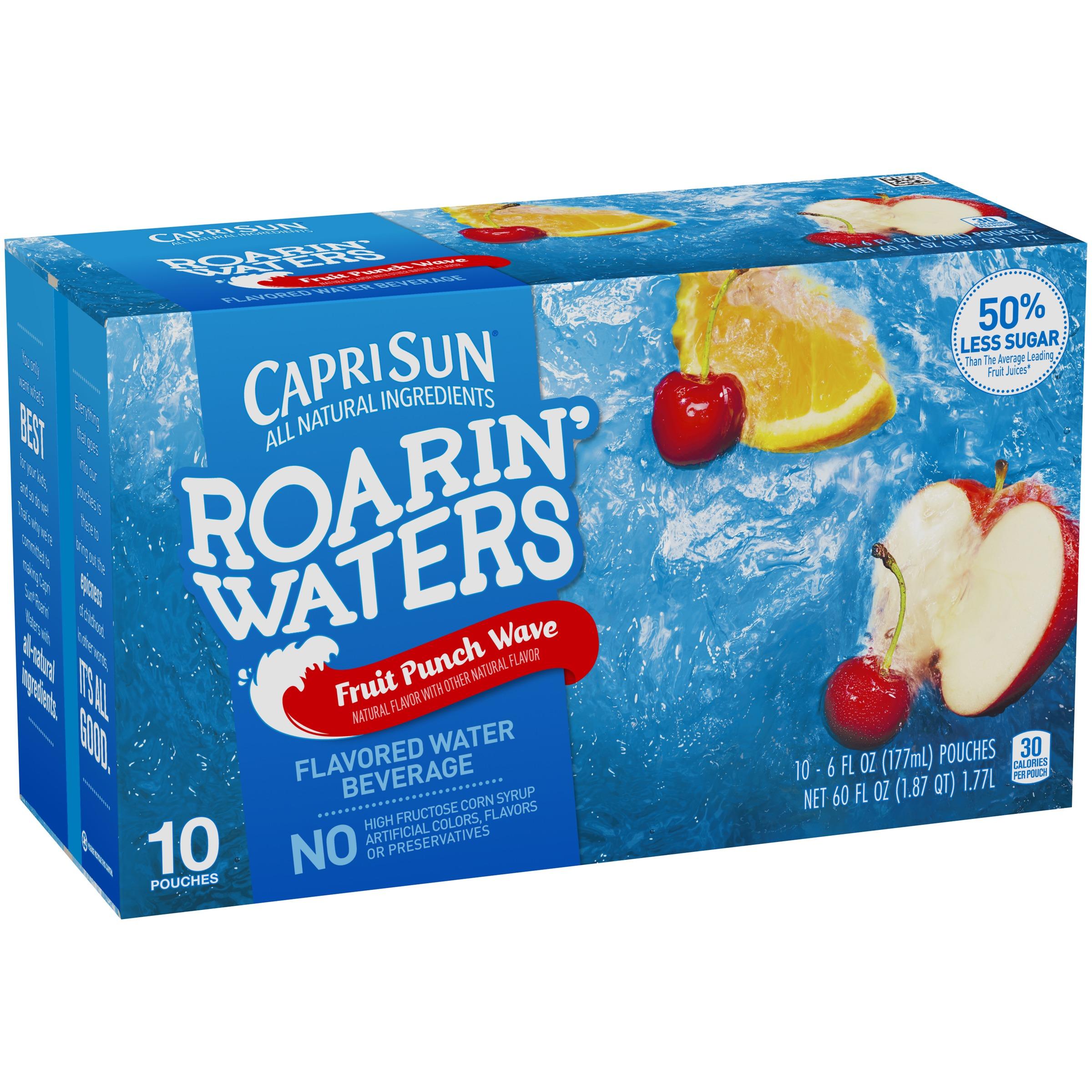 Capri Sun® Roarin' Waters Fruit Punch Wave Flavored Water Beverage 10-6 fl. oz. Pouches