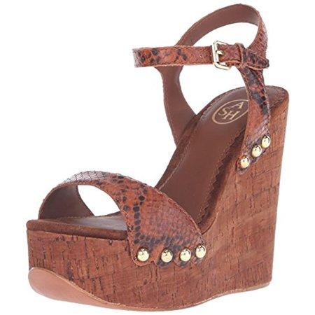 2f3d038f72 ASH - Womens Biba Leather Snake Print Platform Sandals - Walmart.com